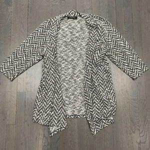 Kasper Plus Size 1X Open Front Cardigan Sweater